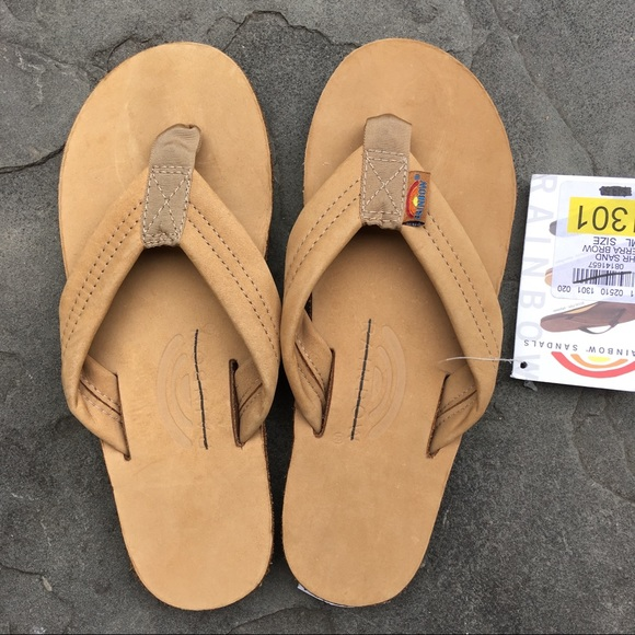 3b339e700cf New Rainbow Flip Flops Small Leather Sierra Brown